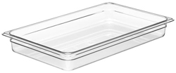 Cambro 12CW Camwear Full Size GN Polycarbonate Food Storage Pan 6cm Deep, Pack of 6