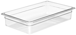 Cambro 14CW Camwear Full Size GN Polycarbonate Food Storage Pan 10cm Deep, Pack of 6