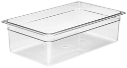 Cambro 16CW Camwear Full Size GN Polycarbonate Food Storage Pan 15cm Deep, Pack of 6