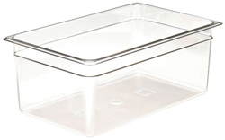 Cambro 18CW Camwear Full Size GN Polycarbonate Food Storage Pan 20cm Deep, Pack of 6