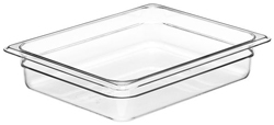 Cambro 22CW Camwear Half Size GN Polycarbonate Food Storage Pan 6cm Deep, Pack of 6