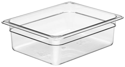 Cambro 24CW Camwear Half Size GN Polycarbonate Food Storage Pan 10cm Deep, Pack of 6