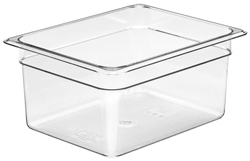 Cambro 26CW Camwear Half Size GN Polycarbonate Food Storage Pan 15cm Deep, Pack of 6