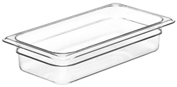 Cambro 32CW Camwear One Third Size GN Polycarbonate Food Storage Pan 6cm Deep, Pack of 6