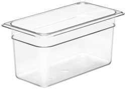 Cambro 36CW Camwear One Third Size GN Polycarbonate Food Storage Pan 15cm Deep, Pack of 6