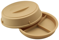 Cambro HK93CW 3 Compartment Base & Cover Heat Keeper, Pack of 6