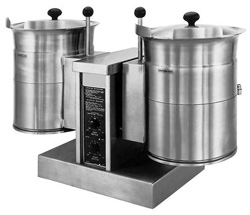 Cleveland TKET-6-T Electric Table Top Twin 23 Ltr Tilting Steam Kettle
