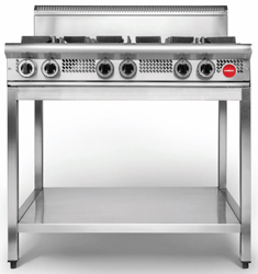 Cookon CT6-3G Free Standing 4 Burners 300 Plate on SS Stand