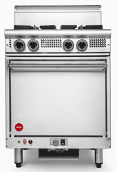 Cookon GR4-FF 4 Burners Static Oven with Flame Failure
