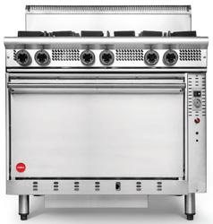 Cookon GR6-3G 4 Burners 300 Plate Static Oven