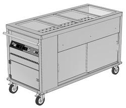 Culinaire CH-CBMH3-M 3 x 1/1GN Mobile Bain Marie Hot Cupboard