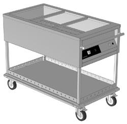 Culinaire CH-CBM3-M 3 x 1/1GN Mobile Bain Marie