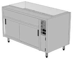 Culinaire CH-CBMH3-U 3 x 1/1GN Bain Marie Hot Cupboard