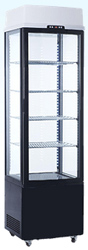 Exquisite CTD235 Four Sided Glass Upright Display Refrigerator
