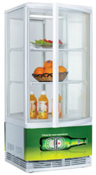 Exquisite CTD78 Four Sided Glass Counter Top Display Refrigerator