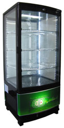 Exquisite CTD78LED Four Sided Glass Counter Top Display Refrigerator with LED
