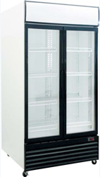 Exquisite DC1000P Two Glass Doors Upright Display Refrigerator