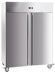 Exquisite GSC1410H Two Solid Doors Upright Storage Refrigerator