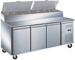 Exquisite MTC363H Stainless Steel Top Food Preparation Refrigerator