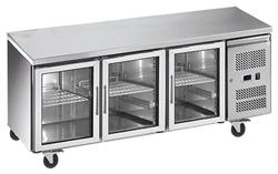 Exquisite USC400G Three Glass Doors Underbench Storage Refrigerator