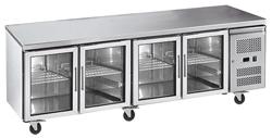 Exquisite USC550G Four Glass Doors Underbench Storage Refrigerator