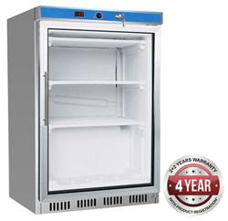 Thermaster HF200G 129L Glass Door SS Undercounter Freezer