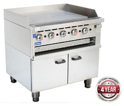 Gasmax GGS-36 800 Series Griddle Toaster