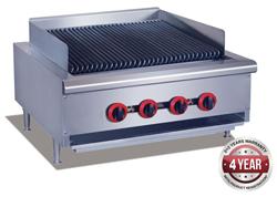 Gasmax QR-24E Gas Char Grill top 4 burner