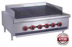 Gasmax QR-36E Gas Char Grill top 6 burner