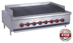 Gasmax QR-48E Gas Char Grill top 8 burner