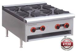Gasmax RB-4E 800 Series Gas 4 Open Burner Cook top
