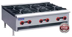 Gasmax RB-6E 800 Series Gas 6 Open Burner Cook top