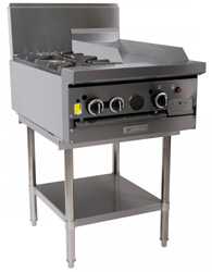 Garland GF24-2G12L Restaurant Series Gas 2 Open Burners 300mm Griddle Space Saver Oven