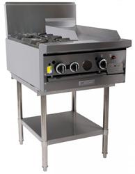Garland GF24-2G12T Restaurant Series Gas 2 Open Burners 300mm Griddle Modular Top