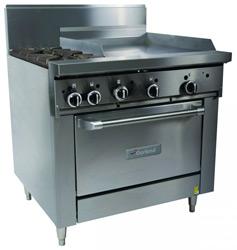Garland GF36-2G24R Restaurant Series Gas 2 Open Top Burners 600mm Griddle Standard Oven