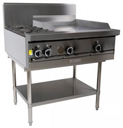 Garland GF36-2G24T Restaurant Series Gas 2 Open Top Burners 600mm Griddle Modular Top