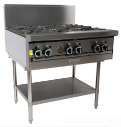 Garland GF36-6T Restaurant Series Gas 6 Open Top Burners Modular Top