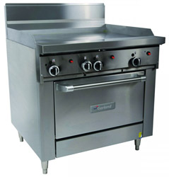Garland GFE36-G36C Restaurant Series Gas 900mm Griddle Convection Oven Electronic Ignition