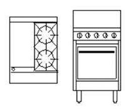 Goldstein PF12G220 2 Burner + Griddle Gas Oven