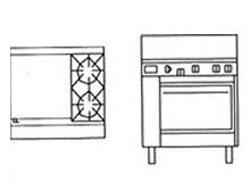 Goldstein PF24G228 2 Burner Griddle Gas Oven
