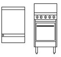 Goldstein PF24G20 Griddle Top Gas Oven