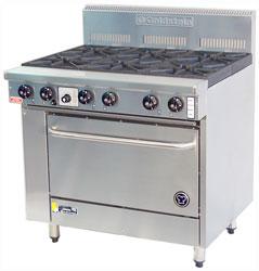 Goldstein PF628 6 Burner Gas Oven