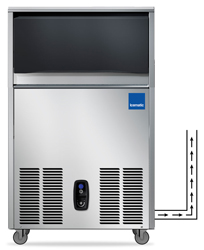 Icematic CS50-A-DP 50kg Underbench Self Contained Ice Machine with Drain Pump