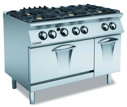 Mareno ANC7FG12G44 Gas 6 Burner Cooktop Gas Static Oven
