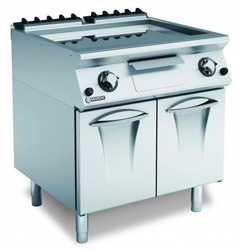 Mareno ANFT78GTLC Gas 800 Smooth Chromed Frytop