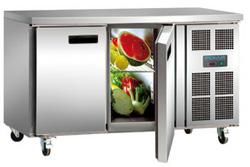 Polar G596-A 2 Door SS Counter Refrigerator