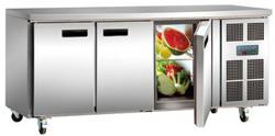 Polar G597-A 3 Door SS Counter Refrigerator