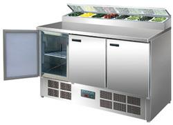 Polar G605-A 3 Door Refrigerated Prep Counter