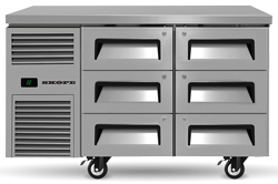 Skope ReFlex RF7.UBR.2.D6 6 Drawer Underbench 1/1 GN Compatible Fridge