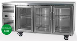 Skope Reflex RF7.UBR.3.GD 3 Glass Door Underbench Food Storage Fridge